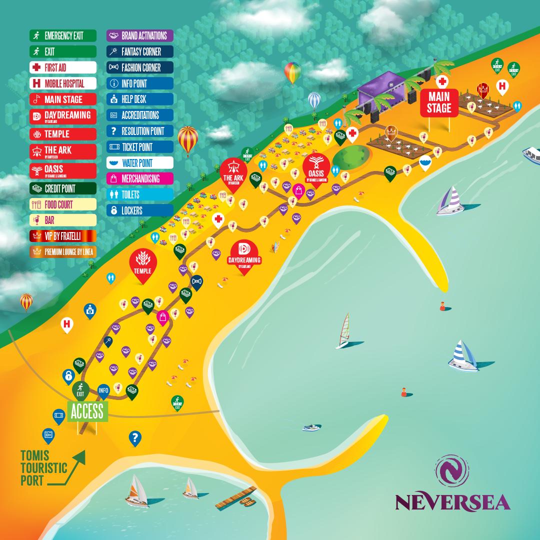 Accesul în festival, transportul în comun și restricții de circulație pentru NEVERSEA