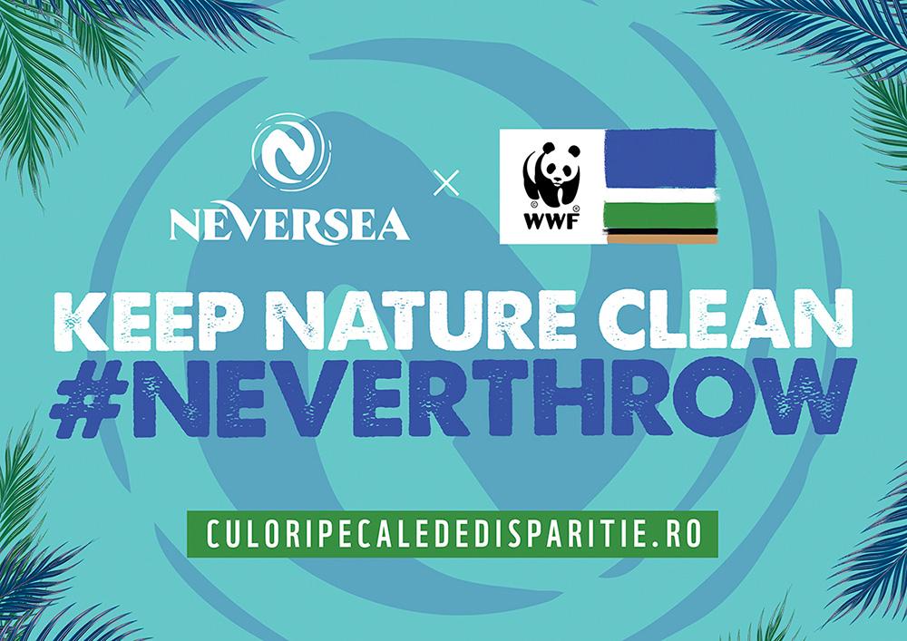 """NEVERSEA, primul brand ambasador al campaniei """"Culorile pe cale de dispariție"""" al World Wide Fund for Nature România"""